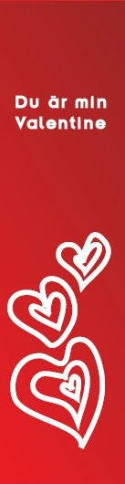 """Bokmärke """"Du är min Valentine"""""""