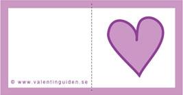 Minikort hjärta