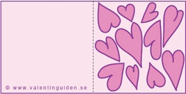 Minikort fyllt av hjärtan