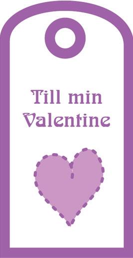 """Presentetikett """"Till min Valentine"""""""